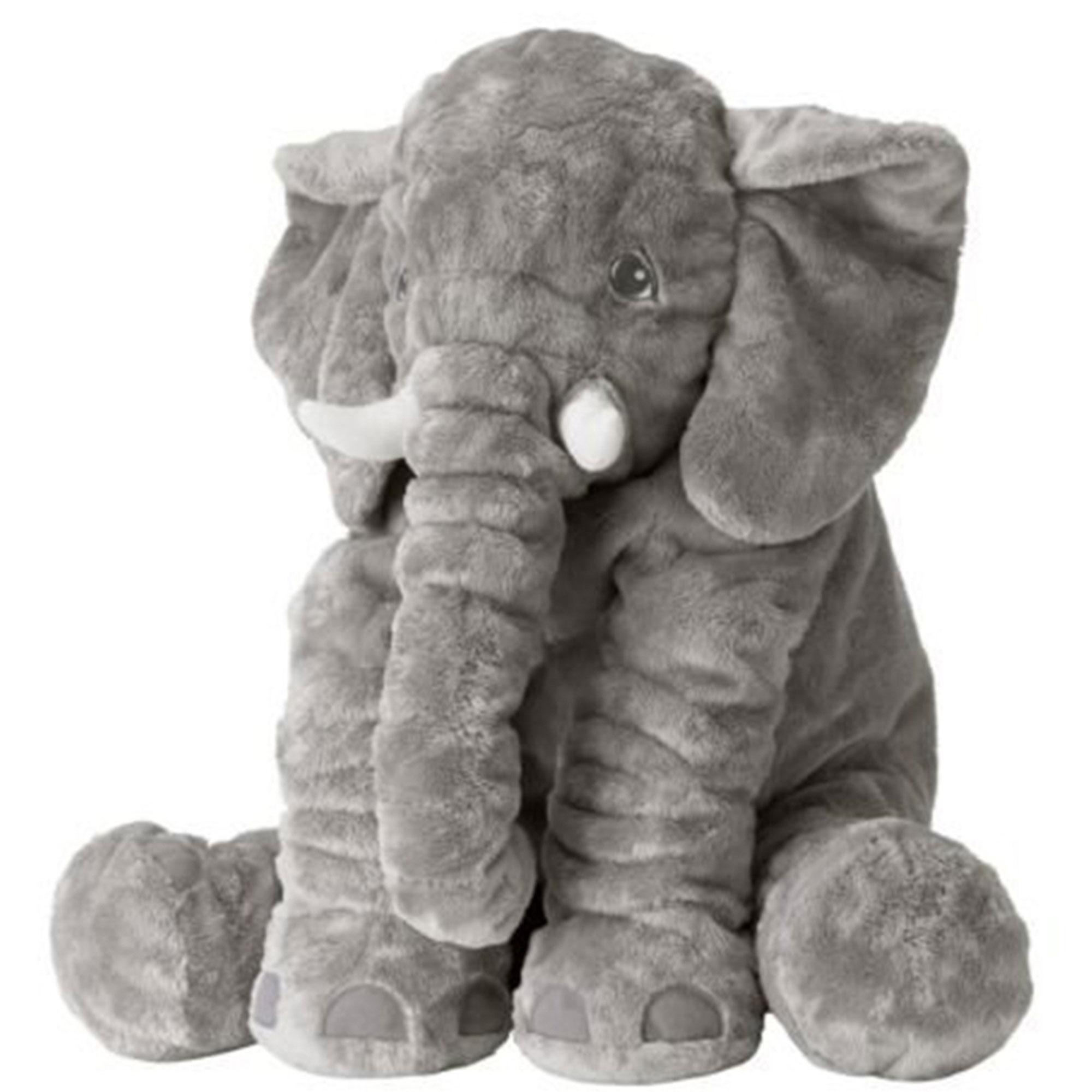عروسک طرح فیل بالشتی مدل mommy elephant ارتفاع 60 سانتی متر