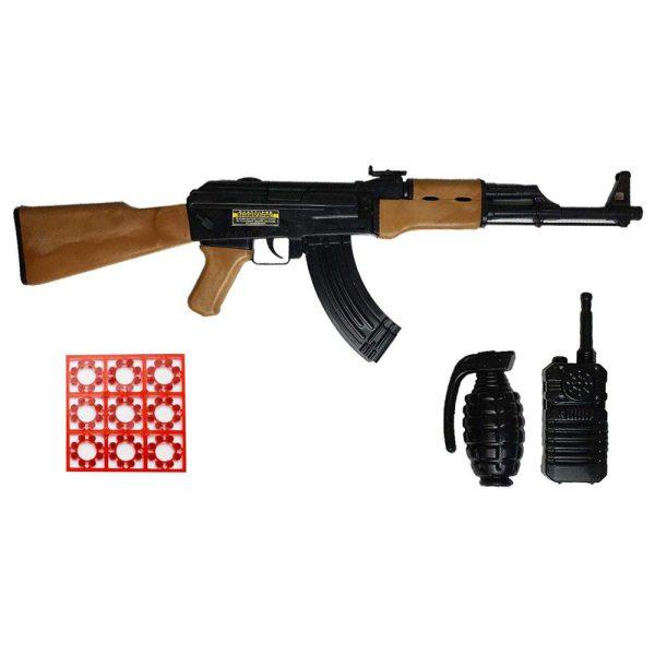 ست  اسباب بازی تفنگ طرح کلاشینکف مدل AK-47