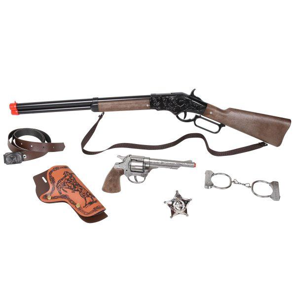 تفنگ بازی گانهر مدل کلانتر مجموعه 6 عددی