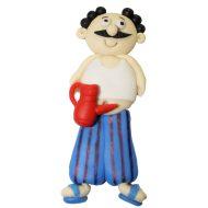 عروسک نشانگر درب سرویس بهداشتی طرح مرد عجول ارتفاع 10 سانتیمتری