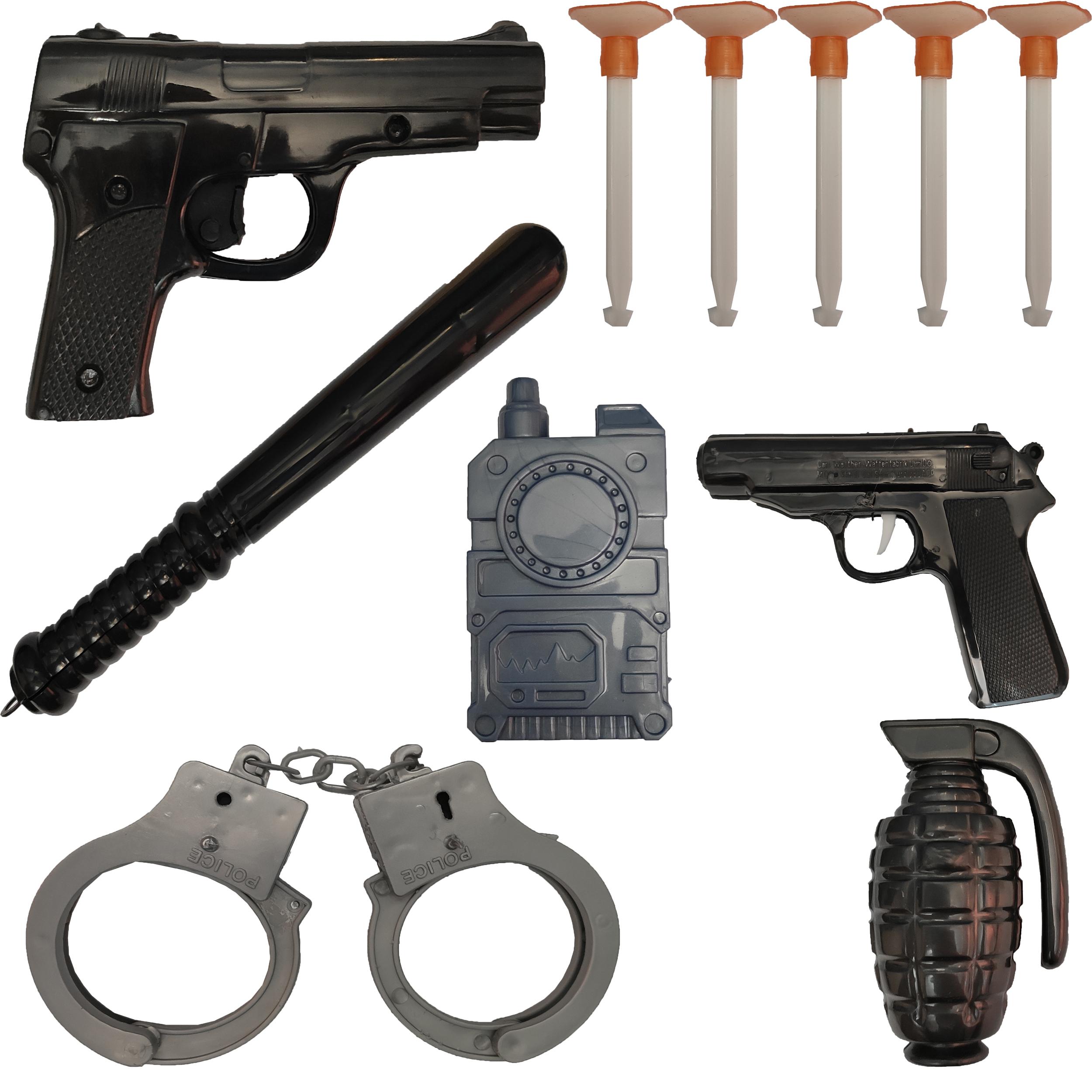 تفنگ بازی مدل پلیس کد p1 مجموعه 11 عددی