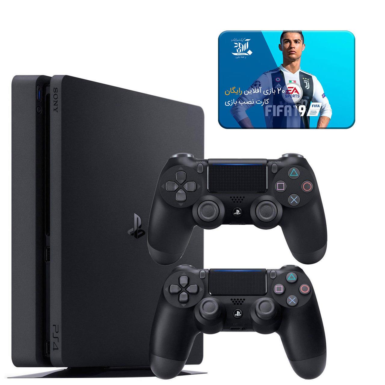 خرید مجموعه کنسول بازی سونی مدل Playstation 4 Slim ریجن 2 کد CUH-2216B ظرفیت 1 ترابایت به همراه 20 عدد بازی