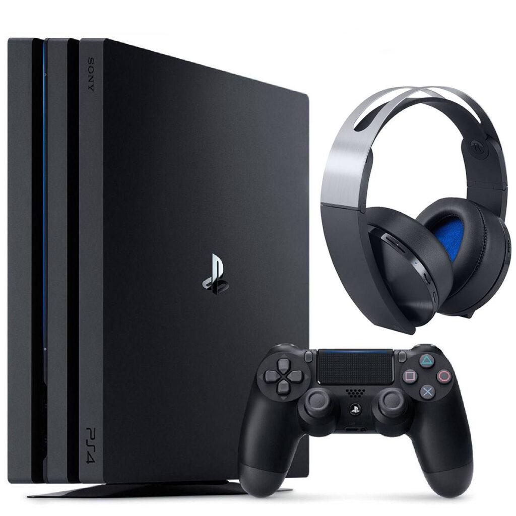 عکس مجموعه کنسول بازی سونی مدل Playstation 4 Pro 2018 ریجن 2 کد CUH -7216B ظرفیت 1 ترابایت