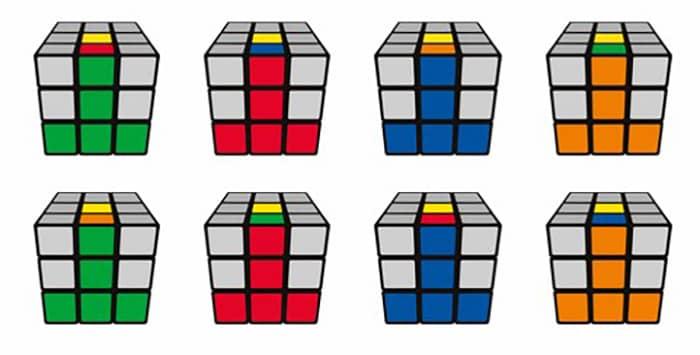 عکس آموزش فرمول و روش حل و درست کردن مکعب روبیک