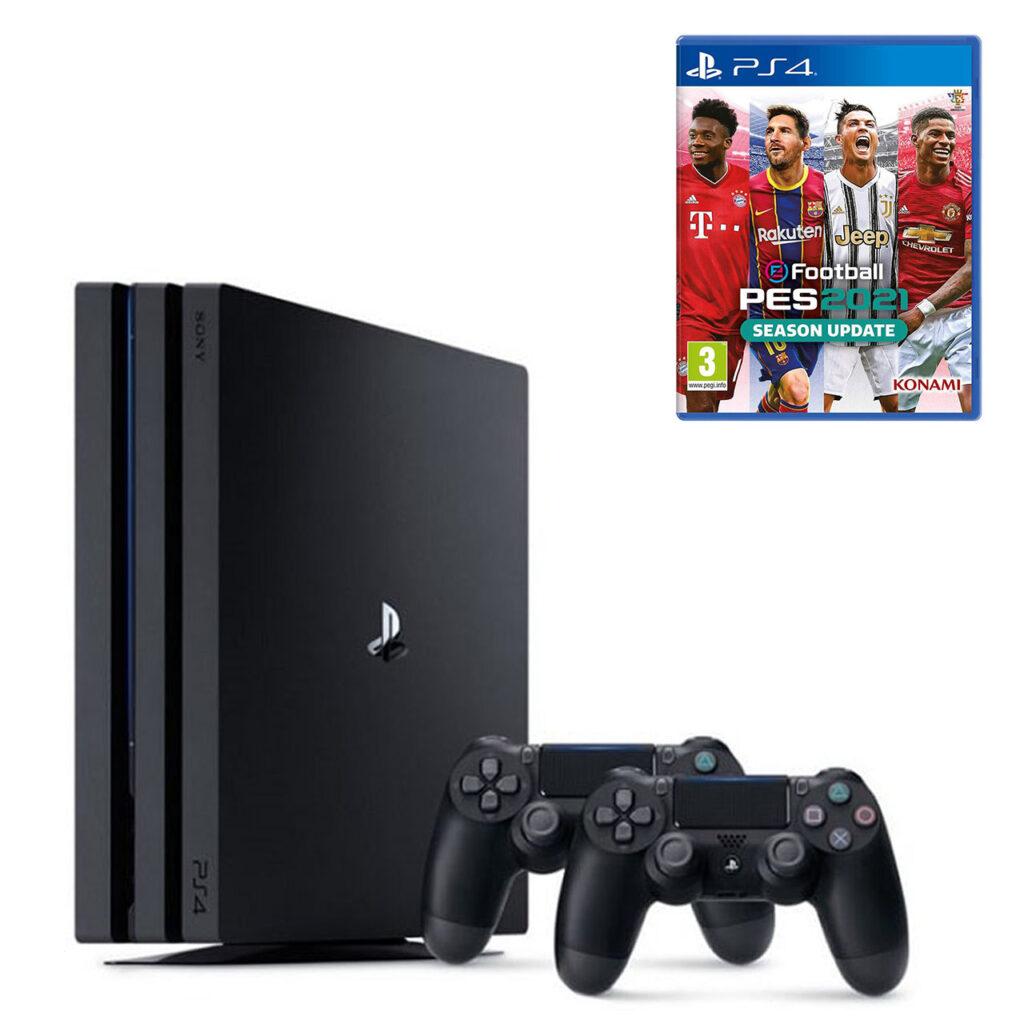 عکس مجموعه کنسول بازی سونی مدل Playstation 4 Pro ریجن 2 کد CUH-7216B ظرفیت 1 ترابایت