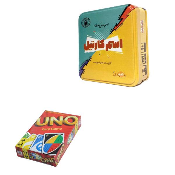 بازی فکری اسم کارتیل مدل 01 به همراه بازی uno