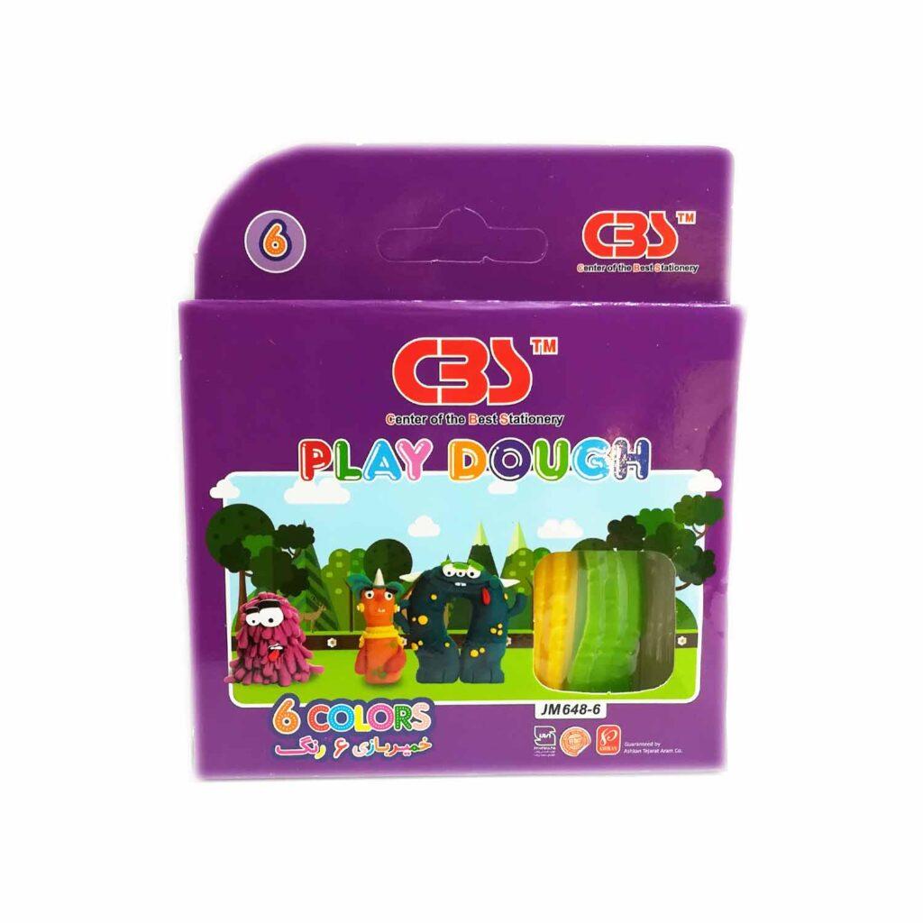 خمیر بازی 6 رنگ سی بی اس کد JM648-6