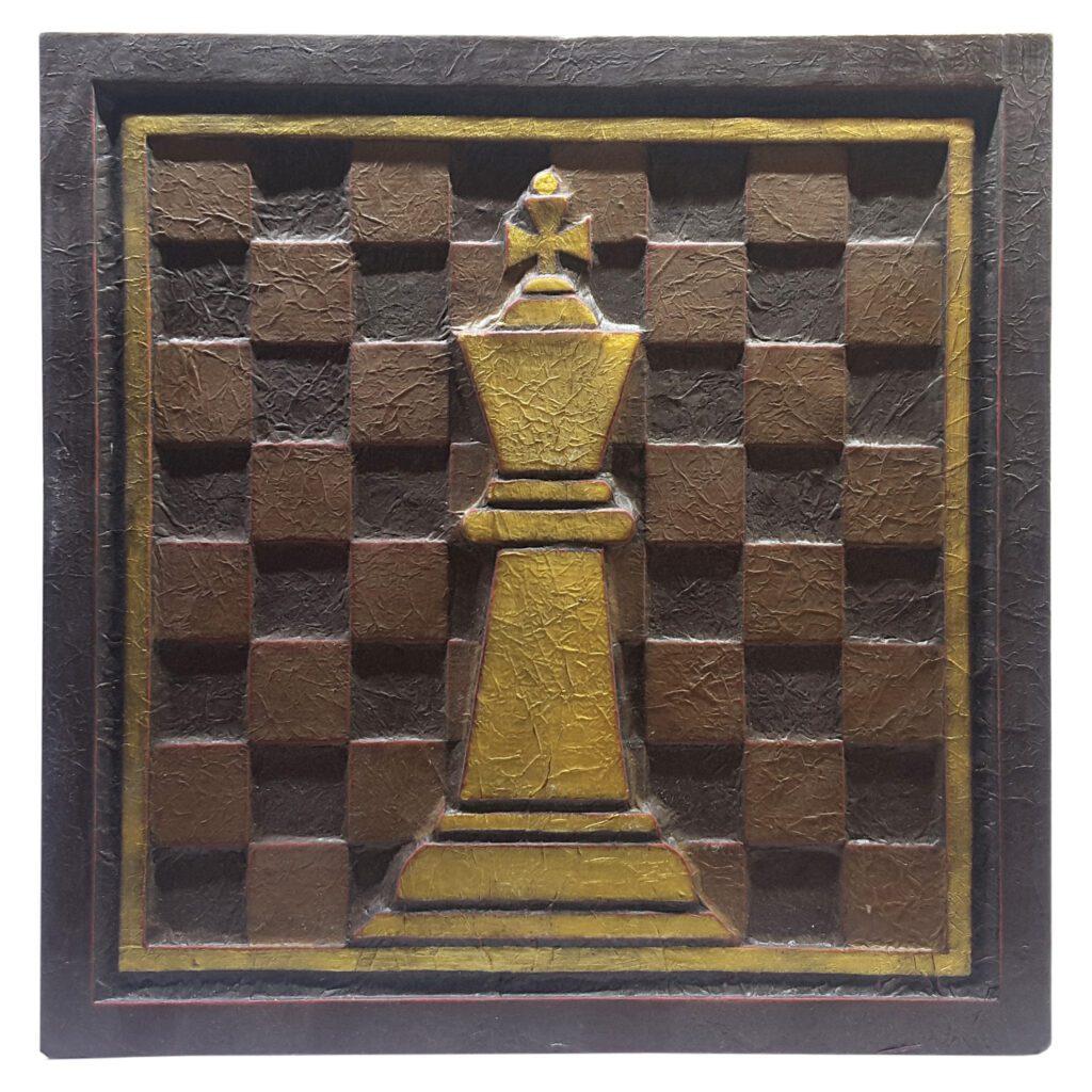 تابلو برجسته مدل شاه شطرنج کد T4D1C6
